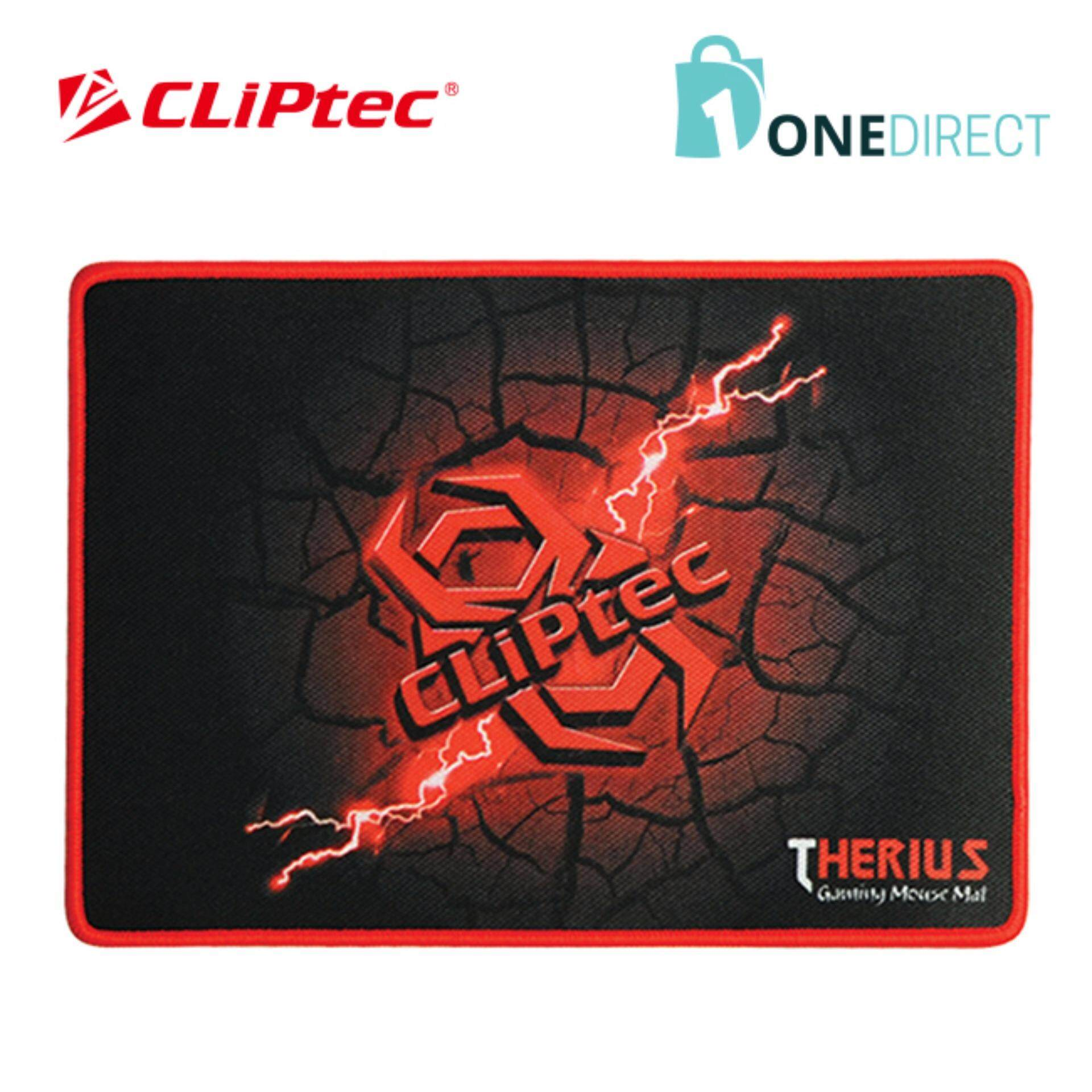 CLiPtec THERIUS Gaming Mouse Mat-RGY348 (Black)