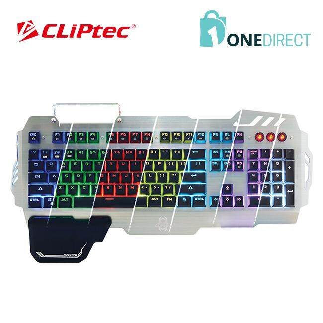 CLiPtec TITANOS USB LED Illuminated Plunger Switch Gaming Keyboard-RGK776