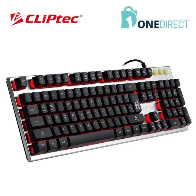 CLiPtec ZAKINAT USB LED Illuminated Gaming Keyboard RGK751 (Silver)