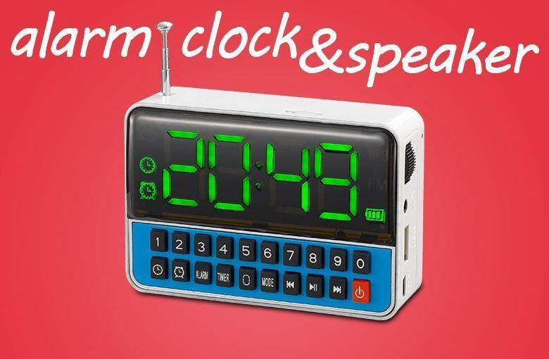 Clock,Alarm,Speaker,USB,MP3 Radio White