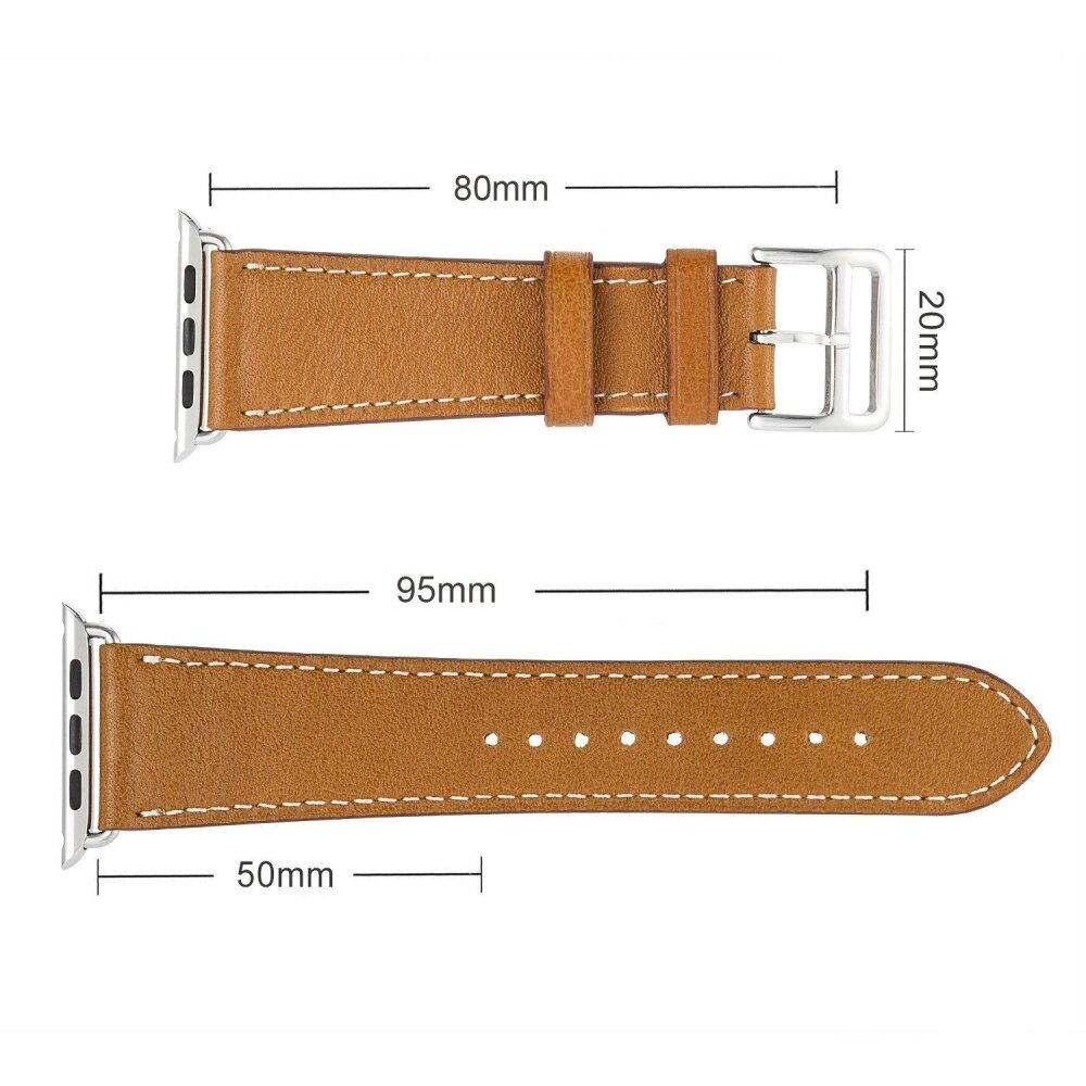 ... Cow Leather Watch Band Strap for 42mm Apple Watch Series 3/Series 2 /Series