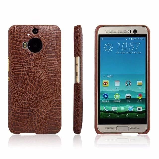 Crocodile pattern leather back cover Hard cover phone case For HTC One (E8) - intl