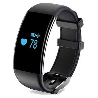 Harga D21 Heart Rate Monitor Smartband Swim Smart Band Bracelet HealthFitness Tracker for Android and iOS(Black)
