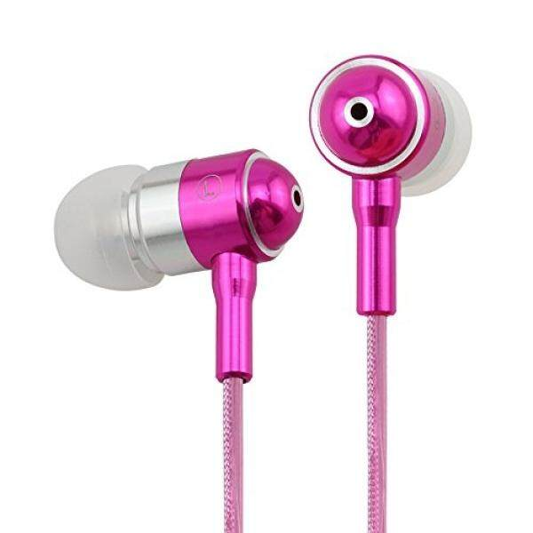 Dairle EL14 LED Earphones Light Flashed with Music Rhythm Earbuds in Ear Headphones Noise-Isolating (pink) … - intl