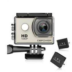 DBPOWER Action Camera 12MP Waterproof Sports Camera 170 Degree Ultra Wide Angle Len Action Camcorder