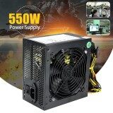 Details about 550W 550 Watt 120mm Fan ATX SATA PCI-E Power Supply for Intel AMD PC Unit 500w