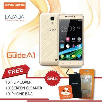 Harga Ding Ding guide A1 (2016) - 4.5Inch - QUAD CORE - 512MB+8GB (GOLD)-1 Year Ding Ding Malaysia Warranty