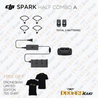 Harga DJI SPARK HALF COMBO A FOR DJI SPARK ( INCL : REMOTE CONTROLLER , 2X INTELLIGENT BATTERY , CHARGER + HUB , PROPELLER GUARD )