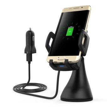 Harga dodocool 10W Fast Charge Wireless Car Charger Air Vent SuctionMount USB Power Adapter 1.5m Charging Cable for Samsung Galaxy S8 /S8+ / S7 / S7 Edge / Note5 / S6 Edge Plus Compatible withQi-enabled Devices Black