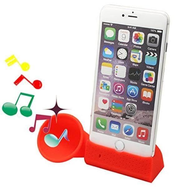 Dseap Silikon Klakson Penyangga Pembicara Kompatibel dengan Apple iPhone 6 Plus iPhone 6 S Plus 5.5 Inch-Merah- internasional