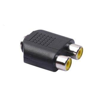 Dual 2-RCA Female Jack to 3.5mm 1/8 Stereo Jack Y Splitter AudioCable Adapter