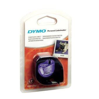 Harga DYMO DY-TP-12267/721530 Personal Label Maker Black on TransparentLetraTag Plastic Tapes