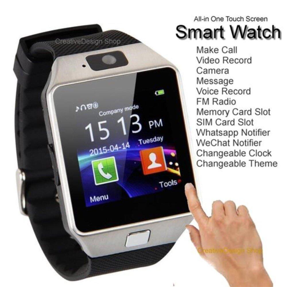 Dz09 Bluetooth Smart Watch with Camera for Iphone and Android Smartphones- 3 Colors