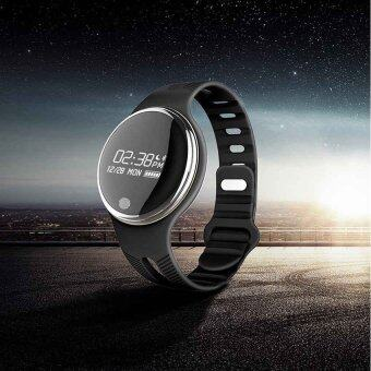 Harga E07 Bluetooth Fitness Tracker Health Bracelet Sports Smart Band ForAndroid IOS Phone (Black)