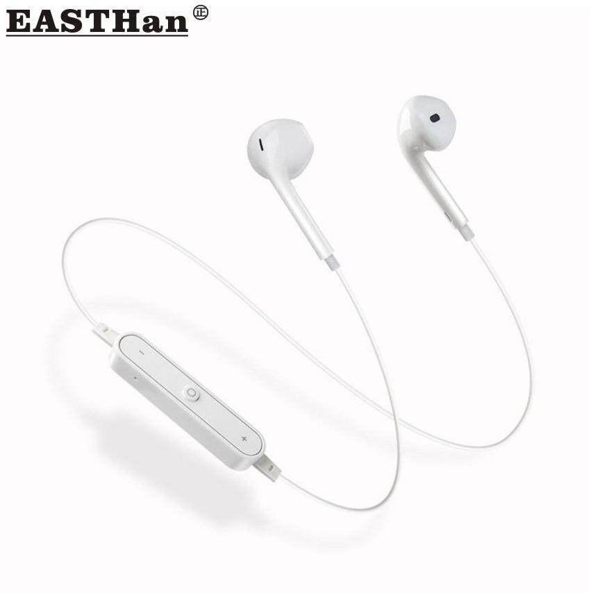 EASTHan S6 Bluetooth Earbuds Wireless Headphone With Microphone Bluetooth Earbud With Mic for iPhone 7 7Plus 6S 6SPlus and Samsung Galaxy S7 S8 and Android Phones Earphone Earbud - intl