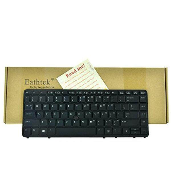 Eathtek Replacement Keyboard with Backlit and Pointer for HP EliteBook 840 G1 G2 850 G1 G2 HP ZBook 14 Mobile Workstation series Black US Layout, Compatible with part number 736654-001 9Z.N9JBV.201 - intl