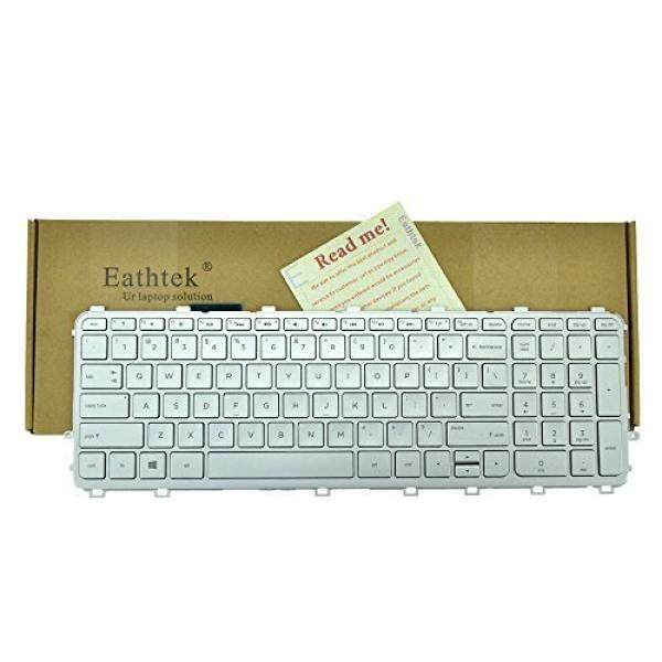 Eathtek Replacement Keyboard with Backlit and Silver Frame Silver key for HP ENVY Touchsmart 15-J 15T-J 17-J 17T-J 15-J000 17-J000 17-j060us 17-j070ca 17-j073ca 17-j083ca series Silver US Layout - intl