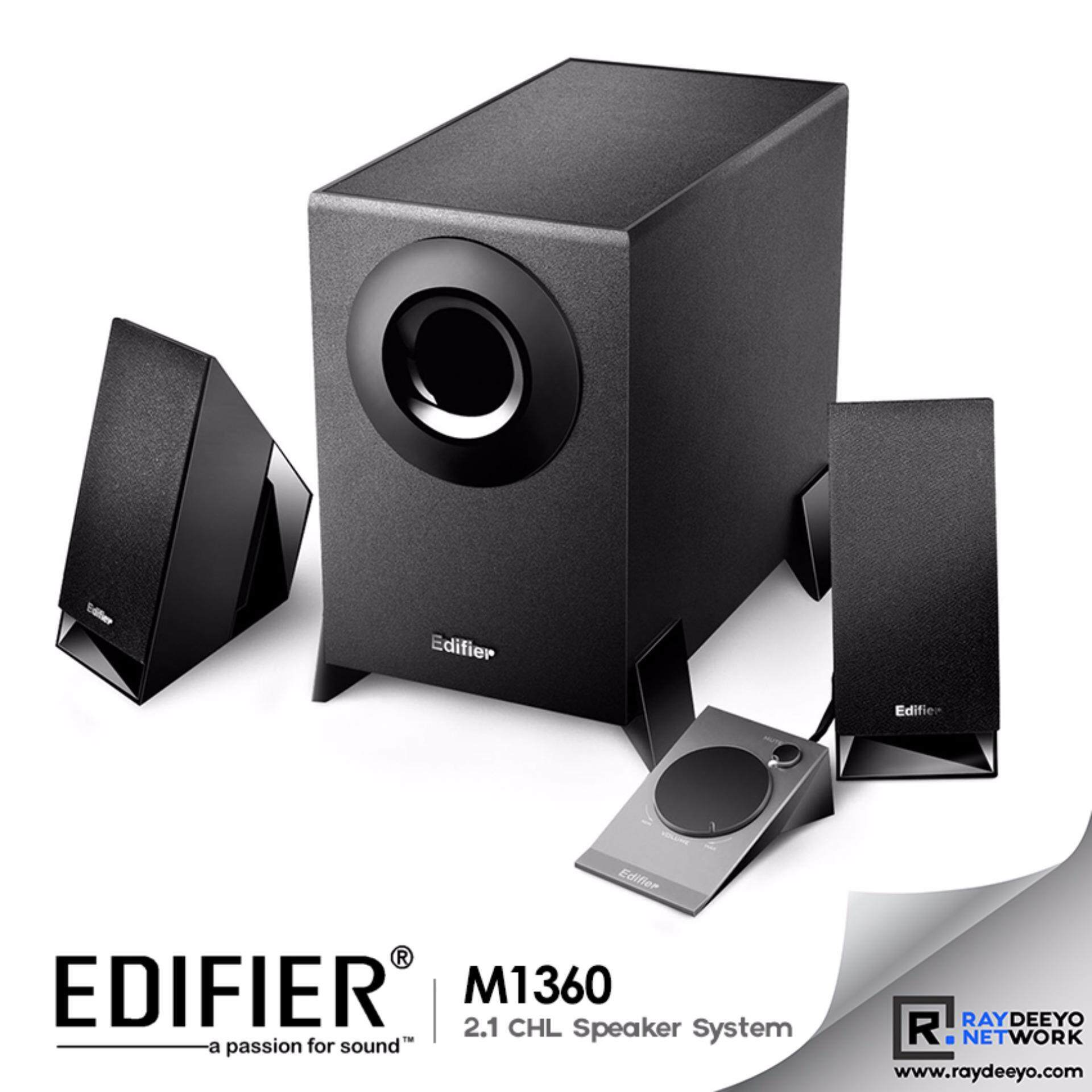 Edifier M1360 2.1CHL Multimedia Speaker 4 Woofer + Volume Controller [Black] Malaysia