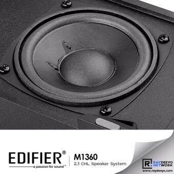 Edifier M1360 2.1CHL Multimedia Speaker 4 Woofer + Volume Controller [Black] Malaysia
