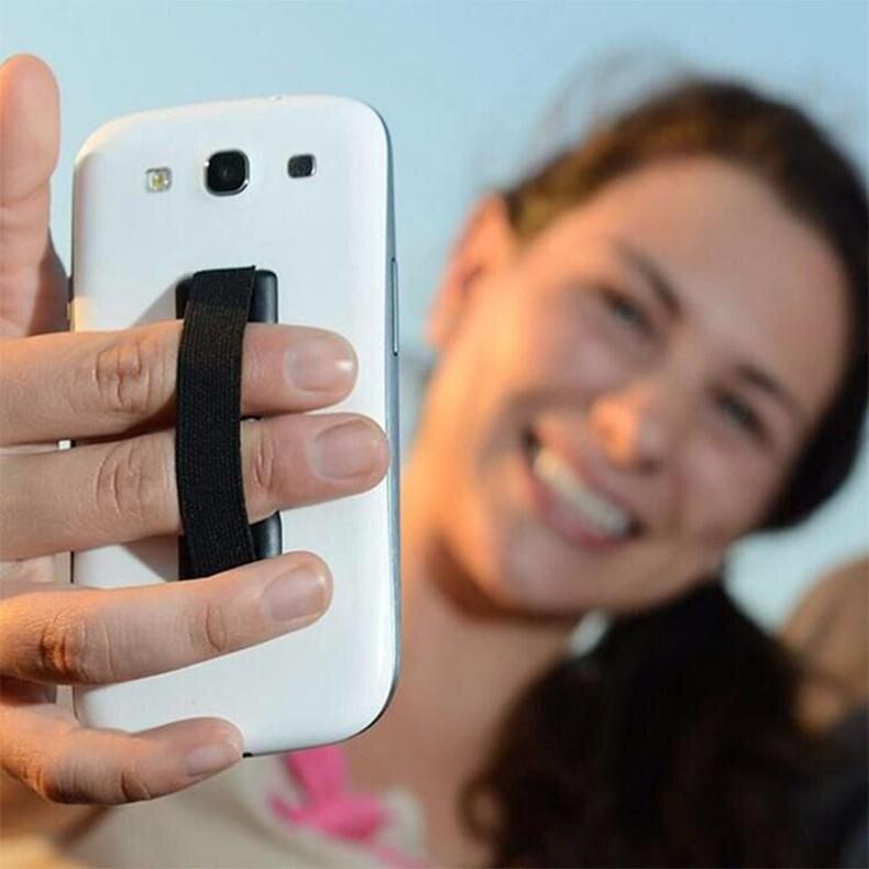 Tali Elastis Menempel Seluler Telepon & Tali Penahan Jari Lingkaran Pegangan Perangkat Sling Pegangan untuk iPhone Pintar- internasional