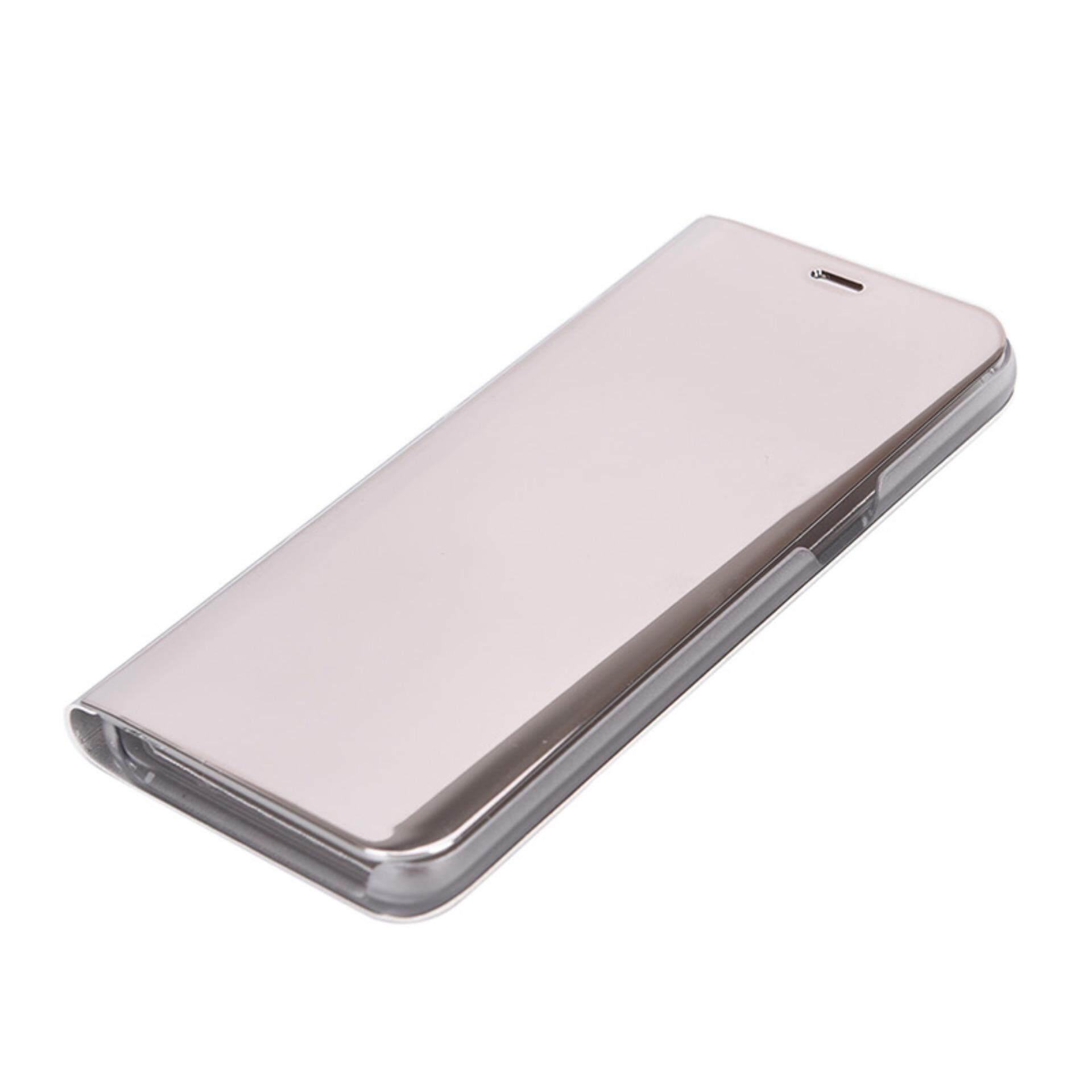 Electroplating Cermin Ponsel Buah Case Bening Lipat Case Sarung Perak untuk Samsung S8-Internasional
