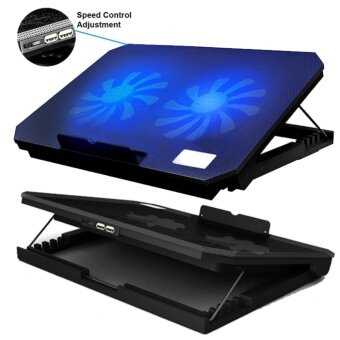 EVERY1 Nuoxi S200 [NP25] Super Mute 2 Big Fans Ice CoolingTechnology Hieght Ajustable Super Slim Cooler Pad with SpeedControl For Laptop
