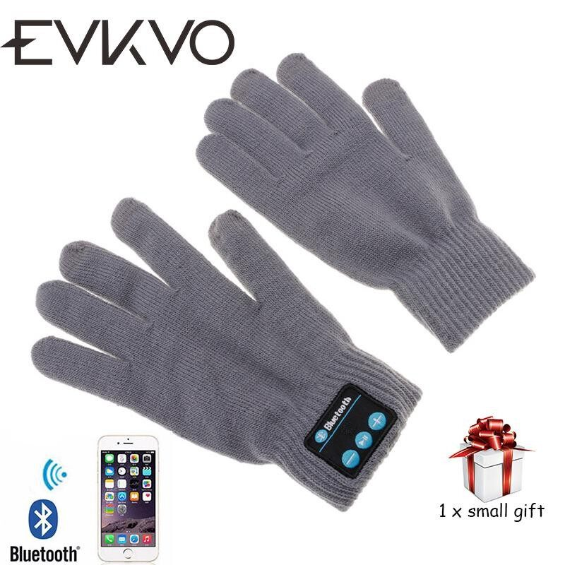 EVKVO New Rechargeable Wireless Bluetooth Music Headset Speaker Smart Touch screen Warm Knit Gloves - intl