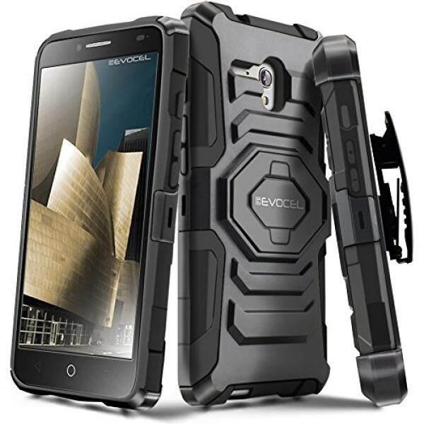 Evocel Alcatel OneTouch Fierce XL [New Generation] Rugged Holster Dual Layer Case [Kickstand][Belt Swivel Clip] For Alcatel OneTouch Fierce XL (2015 Release), Black (EVO-ALFXL-XX01) - intl