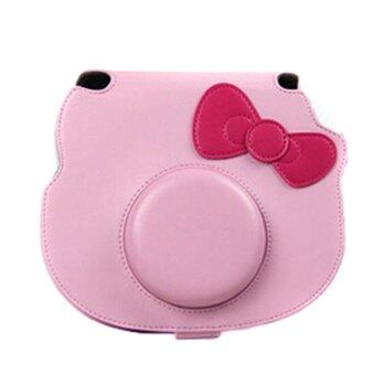 Harga For Fuji Fujifilm Instax Mini Kitty Camera Case Bag Fashion PULeather Shoulder Bag (Pink)