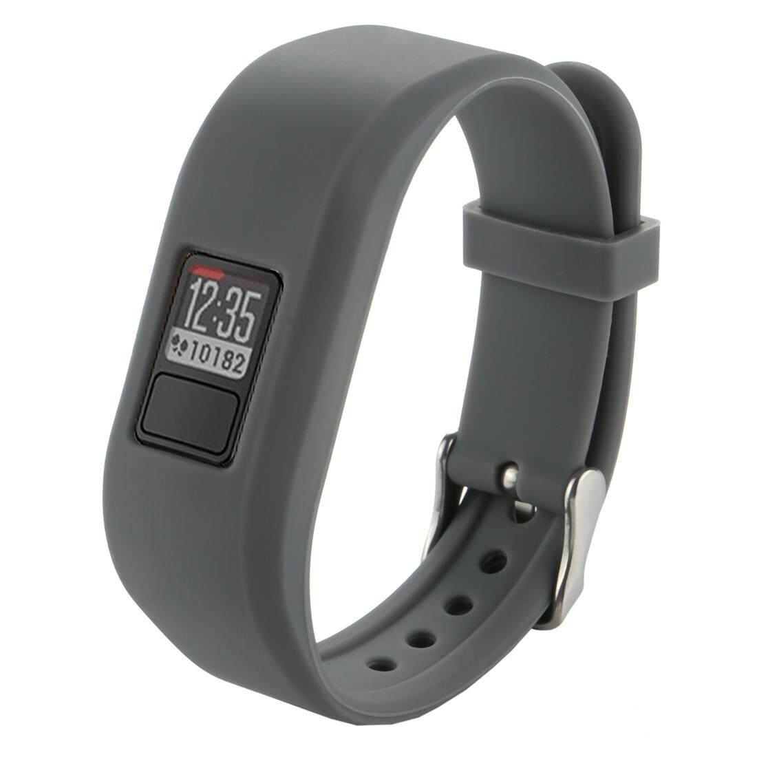 For Garmin Vivofit 3 Smart Watch Silicone Watchband, Length: about 24.2cm(Grey) - intl