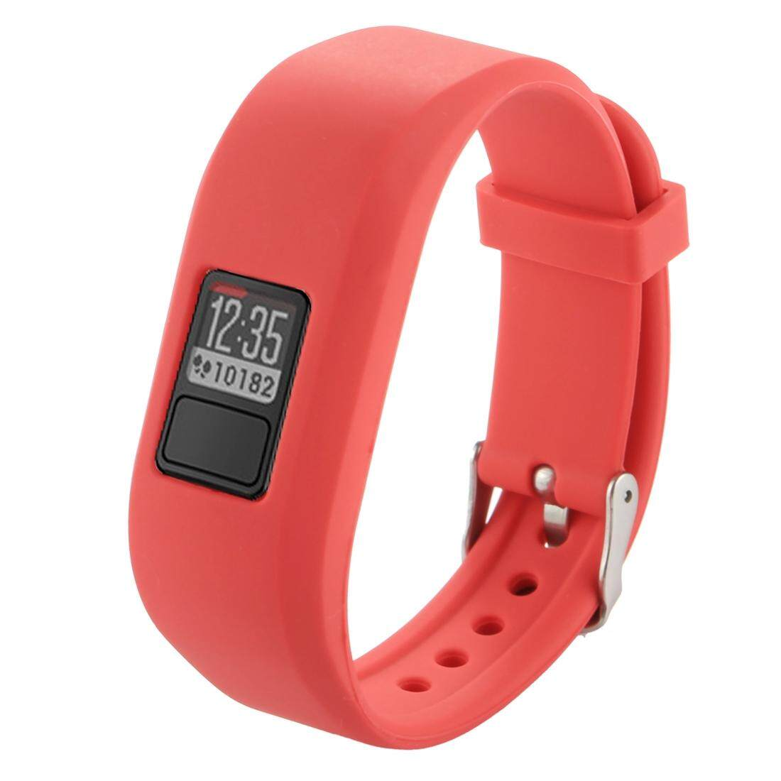 For Garmin Vivofit 3 Smart Watch Silicone Watchband, Length: about 24.2cm(Red) - intl