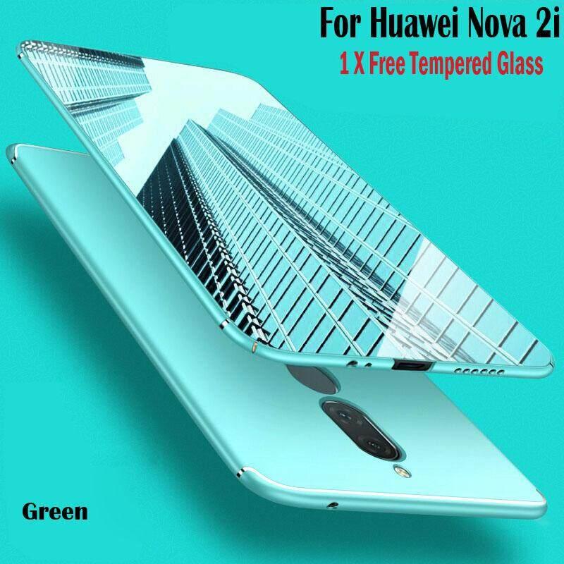 Bán Danh Cho Huawei Nova 2I Free Kinh Cường Lực Ultra Thin Pc Cứng Lưng Ốp Lưng Điện Thoại Vỏ Bao Vỏ Sẵn Sang Cổ Cho Huawei Nova2I 2018 Thời Trang Mới Quốc Tế Trung Quốc Rẻ