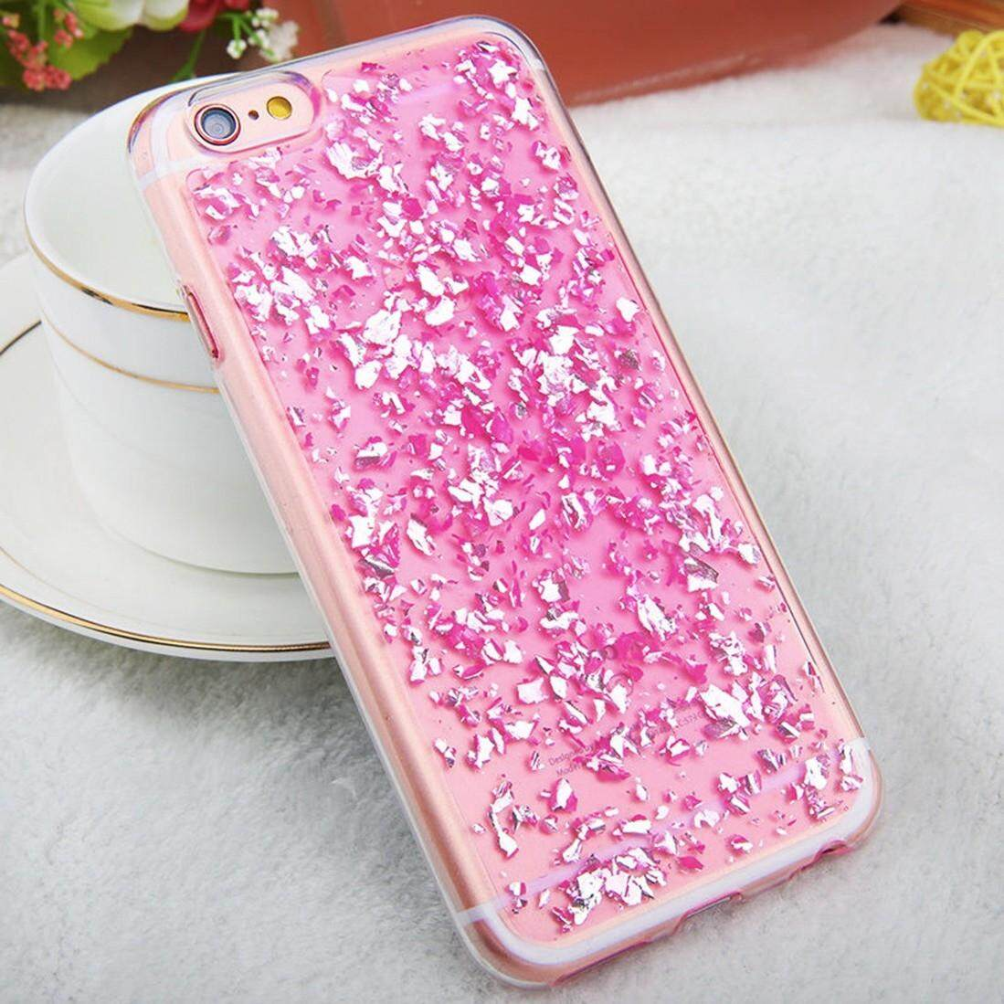 For iPhone 6 & 6s Scattered Platinum Pattern TPU Protective Case(Pink) - intl