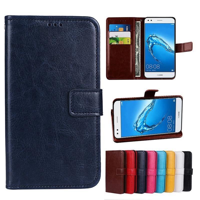 Untuk Samsung A7100 Dompet Penyangga Antik Crazy Horse PU Kulit Case Lipat Folio Magnetik Penutupan Buku Sarung dengan 3 Kartu Kredit kartu Penahan-Internasional