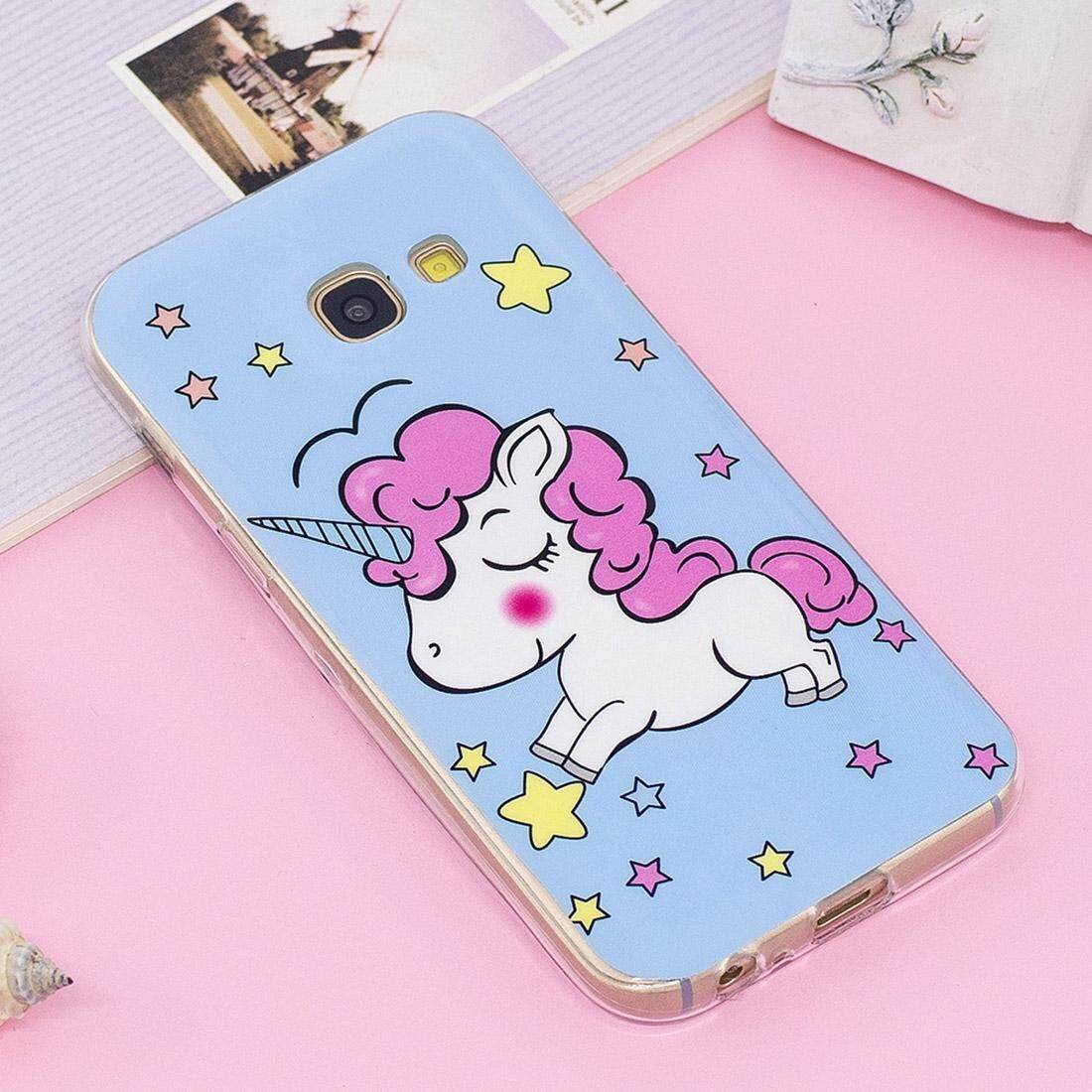 For Samsung Galaxy A3 (2017) Noctilucent IMD Horse Pattern Soft TPU