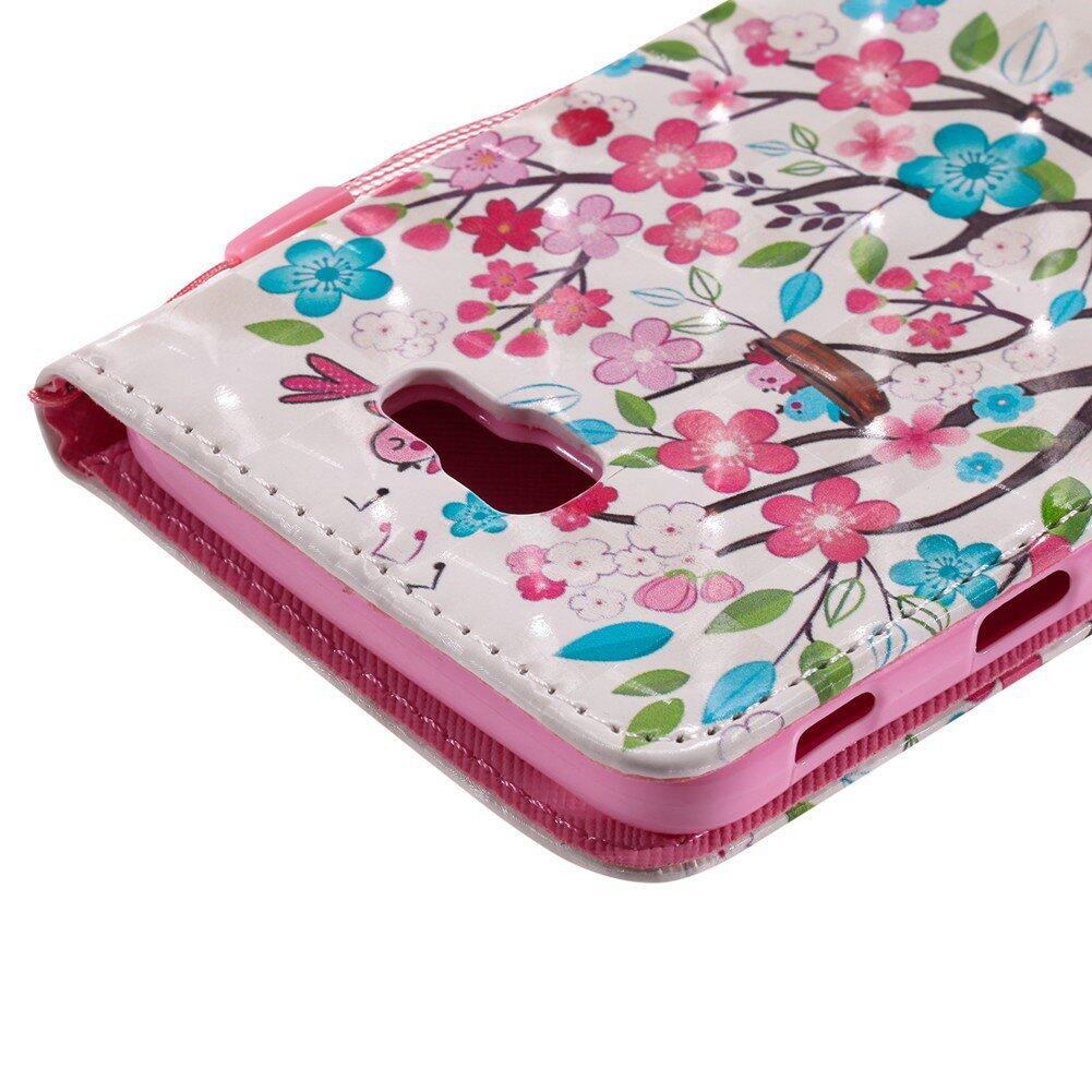 ... For Samsung Galaxy J7 Prime Tree Girl Birds Leather Wallet Flip Card Slot Case Cover ...