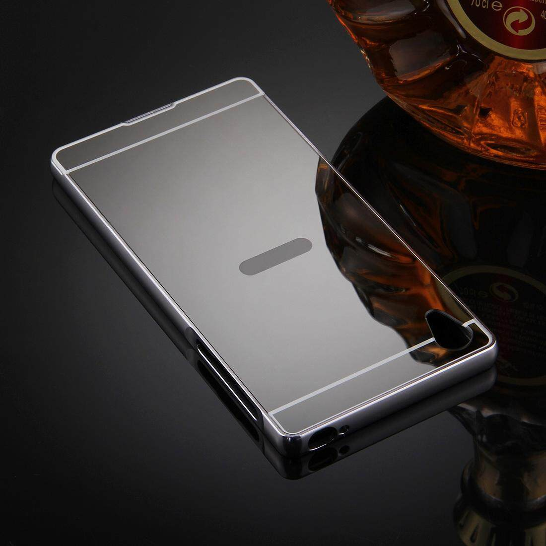 For Sony Xperia Z5 Premium Mirror Push Pull Back Shell Cover + Electroplating .