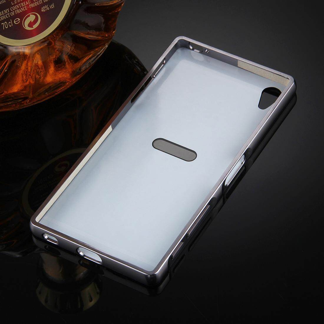 ... For Sony Xperia Z5 Premium Mirror Push Pull Back Shell Cover + Electroplating Bumper Frame Protective ...