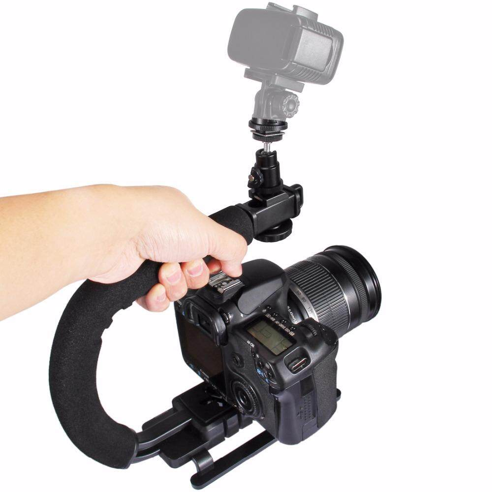Features Niceeshop Rotating Timer Stabilizer Tripod Adapter For Kamera Gopro Dslr Steadycam U C Shaped Handgrip Camera With Head Phone Clamp