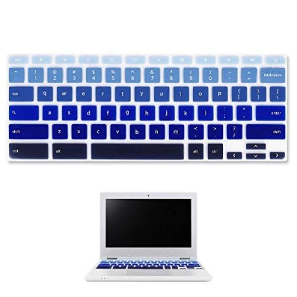 Forito Keyboard Sarung Kulit untuk Acer Chromebook R 11 CB5-132T/Acer Chromebook 11 CB3-131/2017 Terbaru Acer Premium r11 Convertible 11.6 Inch-AS Layout (Ombre Biru) -Internasional