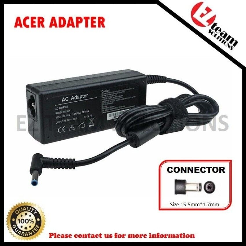 (Free Courier) Replacement Laptop/Notebook AC Adapter Charger ForAcer Aspire 4820Z TimelineX Series 19V 3.42A (65W) 5.5*1.7mm &n - intl