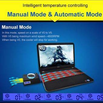 [+Free Gift!] Yuesong V8 USB Portable Laptop Cooler Cooling Fan Notebook Cooler Laptop Cooling Pads Air Extracting Cooler Malaysia