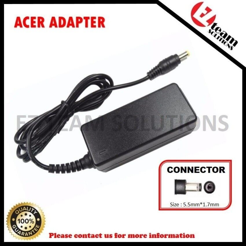 (Free Power Cable) Replacement Laptop/Notebook Ac Adapter AcerASPIRE ONE Aod255-1625 19v 2.15a (40w) 5.5 X X 1.7Mm - intl