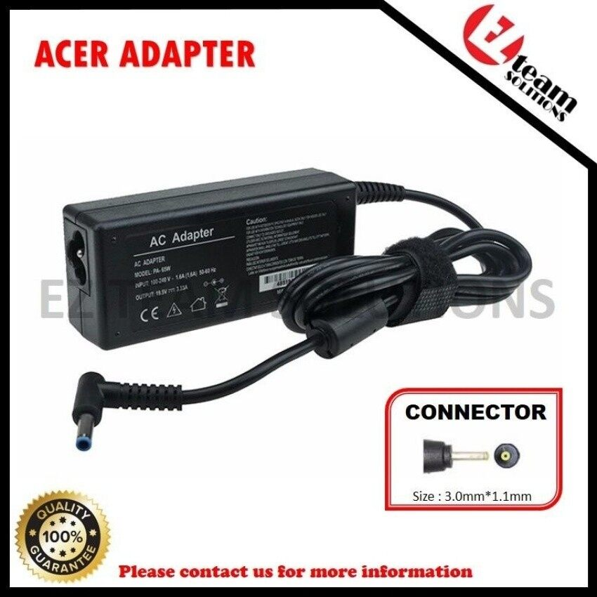 (Free Power Cable) Replacement Laptop/Notebook AC Adapter AcerIconia Tab A110 12V 1.5A (30W) 3.0*1.1mm - intl