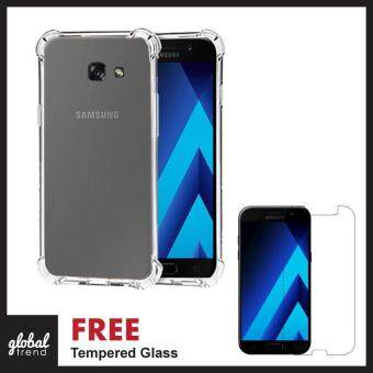 FREE TEMPERED GLASS Samsung Galaxy A5 2017 TPU ANTISHOCK Silicone Exact Fit NO Bulkiness