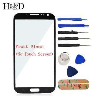 Harga Front Outer Glass Screen Lens (No Touch) For Samsung Galaxy Note 2N7100 + Free Tools + Adhesive (Black)