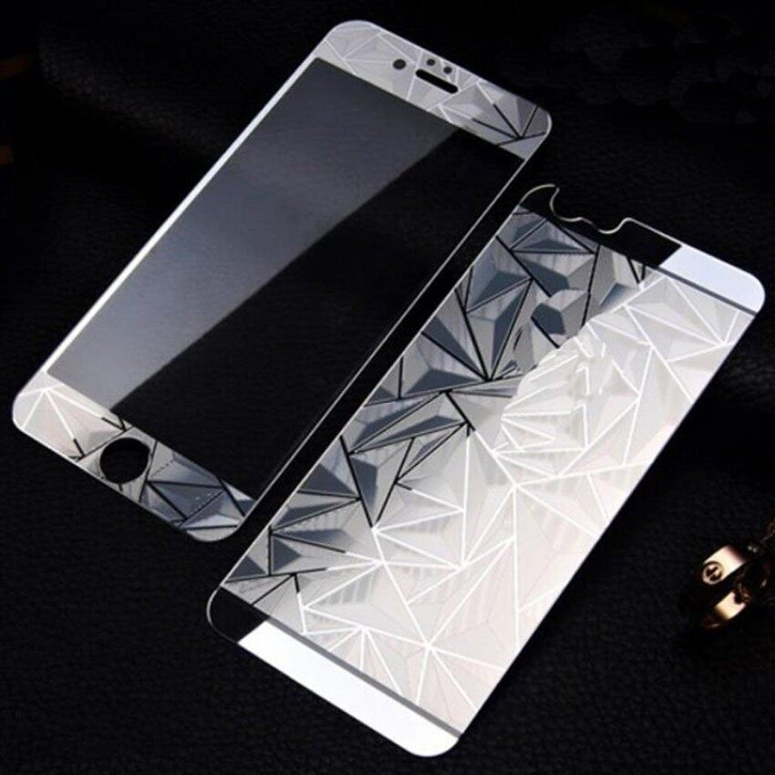 Front+Back 3D Diamond Mirror Color Tempered Glass Screen Protectorfor iPhone 6 Plus / 6S