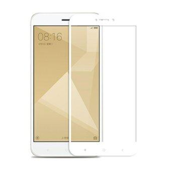 Harga Full Covered Curved Tempered Glass for Xiaomi Redmi 4X (White)