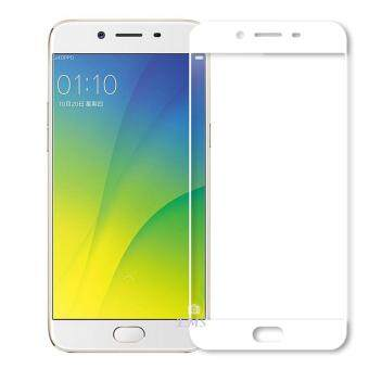 Full Covered Tempered Glass Screen Protector for Oppo A77 (White)