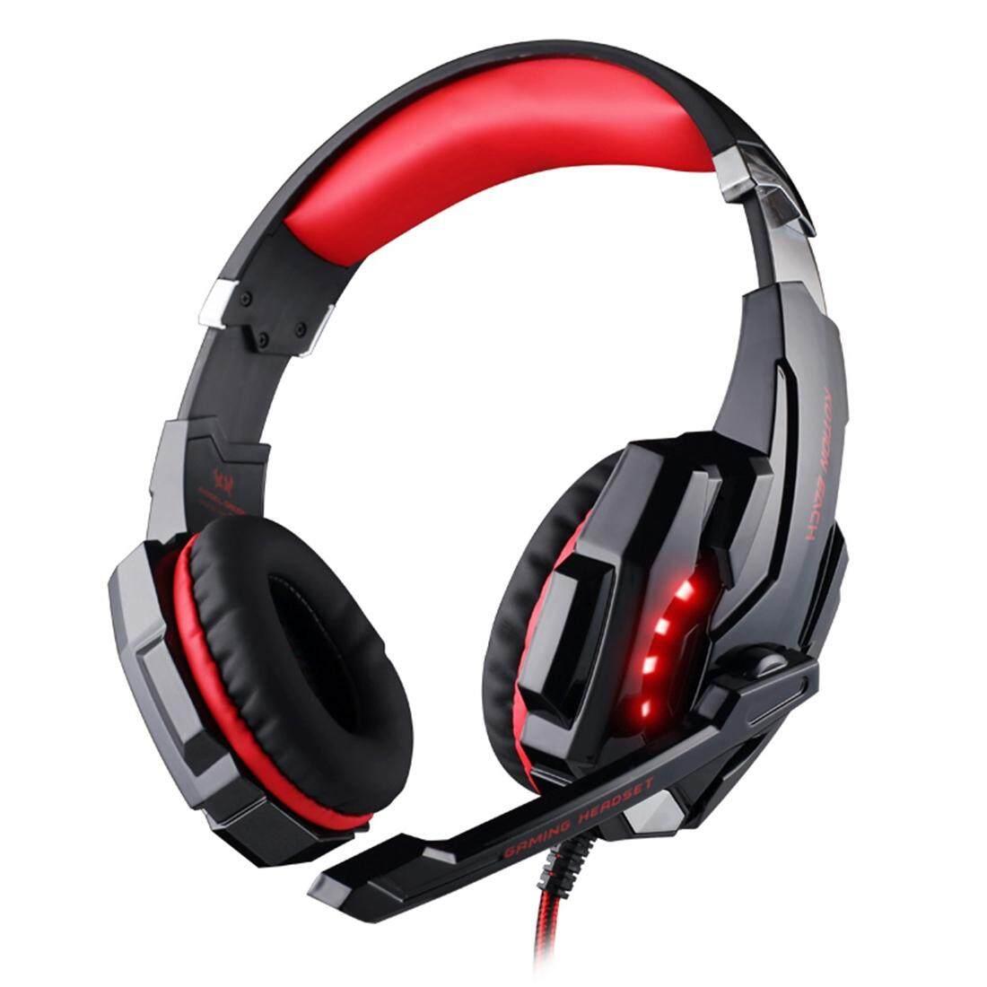 G9000 3.5 Mm Permainan Game Headphone Headset Earphone Ikat Kepala dengan Mikrofon LED Ringan-Internasional